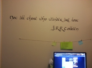 Tolkien quotation wall decal