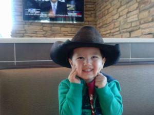 Noah in Cowboy Hat